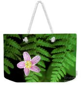 Redwood Sorrel Wildflower Nestled In Ferns Weekender Tote Bag