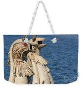 Reed Boat Lake Titicaca Weekender Tote Bag