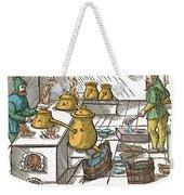 Refining Sulphur, 16th Century Weekender Tote Bag