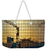 Reflected Cranes At Sunset Weekender Tote Bag