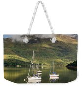 Reflected Yachts In Loch Leven Weekender Tote Bag