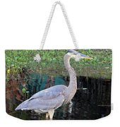 Reflecting Great Blue Heron Weekender Tote Bag