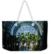 Reflecting On Palm Trees And Arches Weekender Tote Bag by Georgia Mizuleva