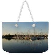 Reflecting On Yachts And Sailboats Weekender Tote Bag