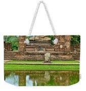 Reflecting Pool At Wat Mahathat In 13th Century Sukhothai Historical Park-thailand Weekender Tote Bag