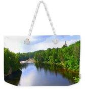 Reflection In Beaupre Quebec Weekender Tote Bag