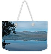 Reflection In Lake Mcdonald In Glacier National Park-montana Weekender Tote Bag