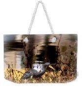 Reflection Of A Heron Weekender Tote Bag