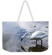 Reflection Of A Lone White Swan Weekender Tote Bag