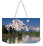 Reflection Of A Mountain Range Weekender Tote Bag