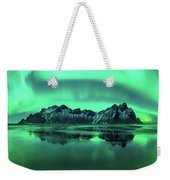 Reflection Of Aurora Borealis Weekender Tote Bag