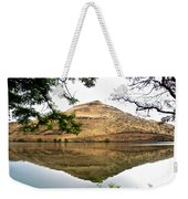 Reflection Of Butte Across From Lepage Rv Park Into Columbia River-oregon Weekender Tote Bag