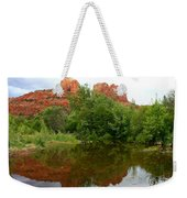 Reflection Of Cathedral Rock Weekender Tote Bag