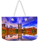 Reflection Of City Weekender Tote Bag