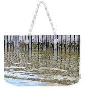 Reflection Of Fence  Weekender Tote Bag