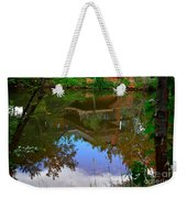 Reflection Of House On Water Weekender Tote Bag