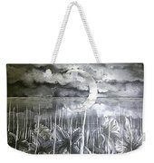 Reflection Of The Crescent Weekender Tote Bag