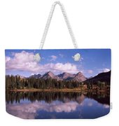 Reflection Of Trees And Clouds Weekender Tote Bag