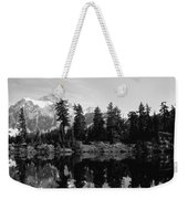 Reflection Of Trees And Mountains Weekender Tote Bag