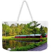 Reflection On The Pond Weekender Tote Bag