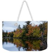 Reflection On The Raquette River Weekender Tote Bag