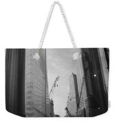 Reflections At The 9/11 Museum In Black And White Weekender Tote Bag