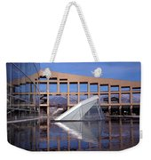 Reflections At The Library Weekender Tote Bag
