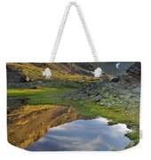 Reflections At The Mountain Lake Weekender Tote Bag
