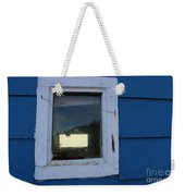 Reflections In A Shed Window - Curiosity - Fishing Weekender Tote Bag