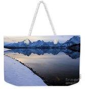 Reflections In Jackson Lake Weekender Tote Bag