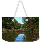 Reflections In Slippery Rock Creek Weekender Tote Bag