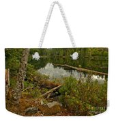 Reflections In Starvation Lake Weekender Tote Bag