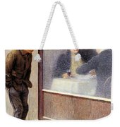 Reflections Of A Hungry Man Or Social Contrasts Weekender Tote Bag by Emilio Longoni