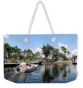 Reflection's Of A Lone Fisherman Weekender Tote Bag