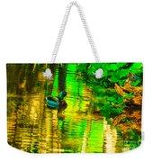 Reflections Of A Mallard Duck Weekender Tote Bag