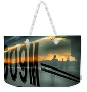 Reflections Of A Sunset Flight Weekender Tote Bag