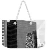 Reflections Of Architecture In Black And White Weekender Tote Bag