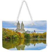 Reflections Of Autumn Central Park Lake  Weekender Tote Bag