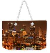 Reflections Of Pittsburgh Weekender Tote Bag