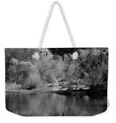 Reflections Of Sedona Black And White Weekender Tote Bag