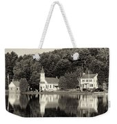 Reflections Of The Day Black And White Weekender Tote Bag