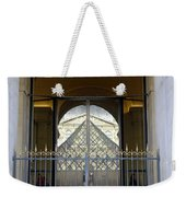 Reflections Of The Musee Du Louvre In Paris France Weekender Tote Bag