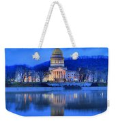 Reflections Of The West Virgina Capitol Building Weekender Tote Bag