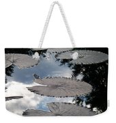 Reflections On A Lily Pond Monet Weekender Tote Bag