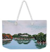 Reflections On Lal Bagh Lake Weekender Tote Bag