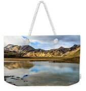 Reflections On Landmannalaugar Weekender Tote Bag