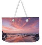 Reflections On North Jetty Dusk Weekender Tote Bag