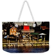 Reflections..two Rivers Pierhead Lighthouse Weekender Tote Bag
