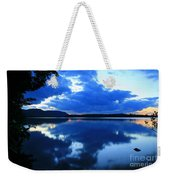 Reflective Blues On Lake Umbagog  Weekender Tote Bag
