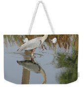 Reflective On Blue Weekender Tote Bag